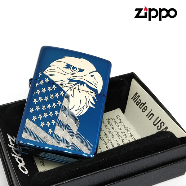 ZIPPO 29882 EAGLE AND FLAG DESIGN 지포 담배라이터